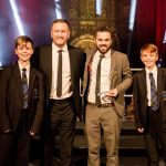 Spirit of Enterprise Award winner Bebington High School Farm with Andrew Hampson, sales manager at Copyrite Systems