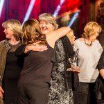 Netherton Moss celebrate on stage
