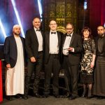 Leadership Team of the Year winner Tauheedul Islam Boys' High School with John Corrish, head of programme, Shaping Futures