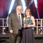 School Support Star of the Year winner Sara Mitchell, New Park Primary School with Malik Killen, School Improvement Liverpool