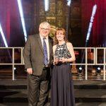 School Support Star of the Year winner Sara Mitchell with Malik Killen, chief executive officer, School Improvement Liverpool.