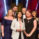 Most Inspirational Primary School winners Eldon Primary School with Nicola Stewart (Milk Education)
